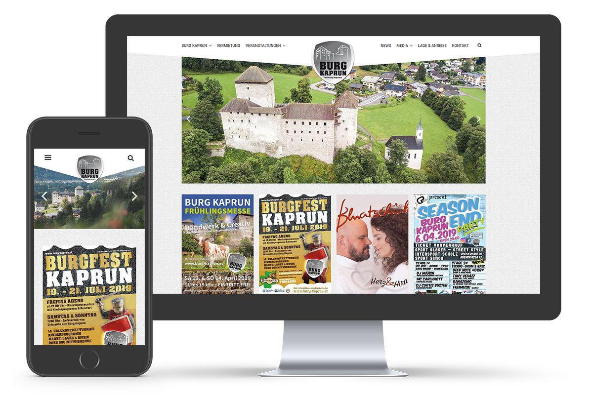 Burg Kaprun Website