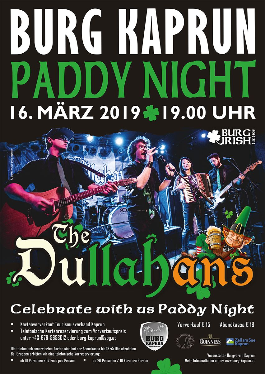 PADDY NIGHT 2019 mit The Dullahans