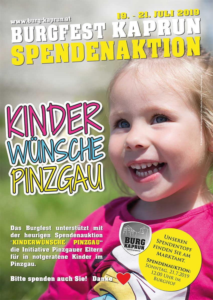 """Spendenaktion """"Kinderwünsche Pinzgau"""""""