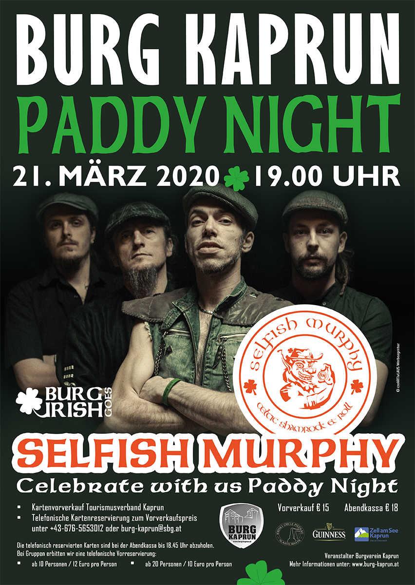 PADDY NIGHT 2020 mit Selfish Murphy